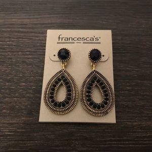 Black & Gold Earrings - Francesca's Brand New!